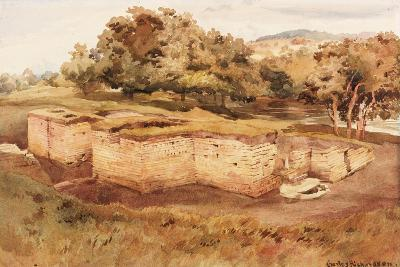 The Roman Baths, Chesters, North Tyne (West View) (Bodycolour on Paper)-Charles Richardson-Giclee Print