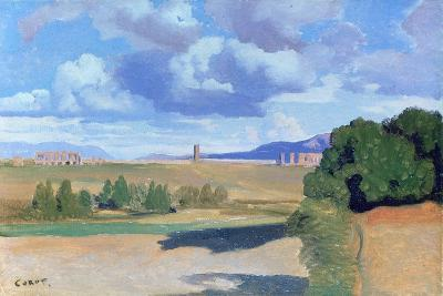 The Roman Campagna, with the Claudian Aqueduct, C1826-Jean-Baptiste-Camille Corot-Giclee Print