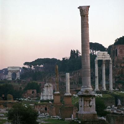 The Roman Forum in the Evening, 2nd Century-CM Dixon-Photographic Print