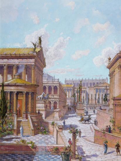 The Roman Forum of Antiquity, 1914-Theodor Josef Hubert Hoffbauer-Giclee Print