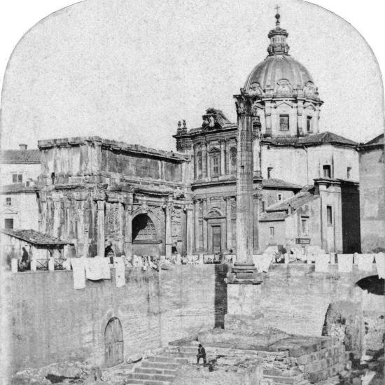 The Roman Forum, Rome, Italy, Early 20th Century--Photographic Print