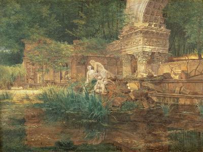 The Roman Ruins in the Gardens of Schonbrunn Palace-Ferdinand Georg Waldmuller-Giclee Print