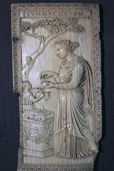 The Roman Symmacki Diptych, 4th century. Artist: Unknown-Unknown-Giclee Print