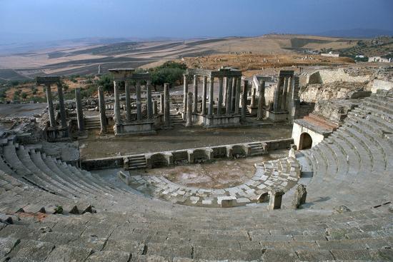 The Roman theatre of Dougga, 2nd century-Unknown-Photographic Print