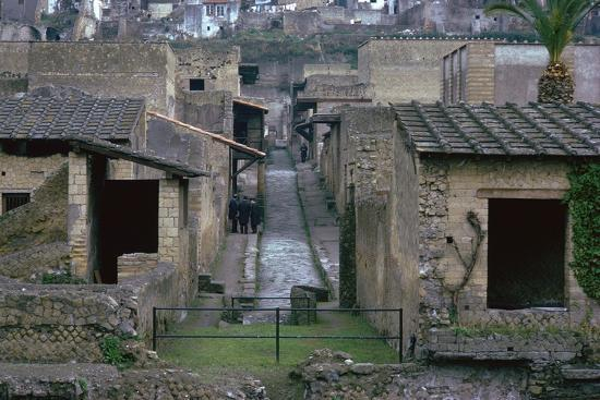 The Roman town of Herculaneum, 1st century. Artist: Unknown-Unknown-Photographic Print