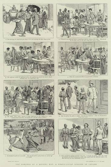 The Romance of a Missing Hat, a Police-Court Episode in Ceylon-William Ralston-Giclee Print