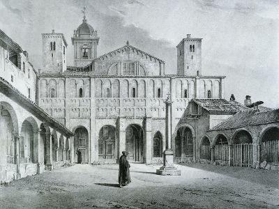 The Romanesque Cathedral of Novara-Nicolas Chapuy-Giclee Print