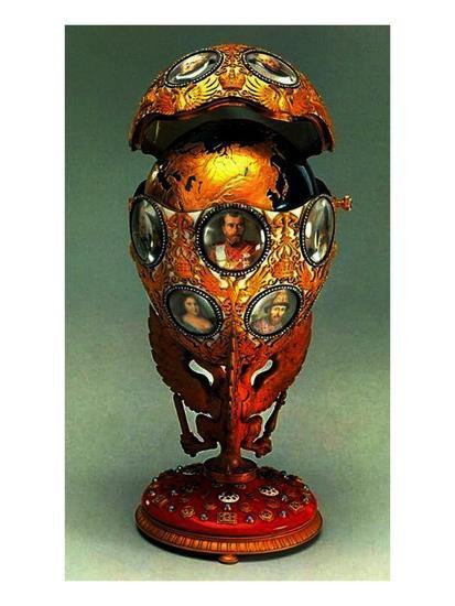 The Romanov Tercentenary Faberge Egg, 1913 (Mixed Media)-G. Vigstrem-Giclee Print