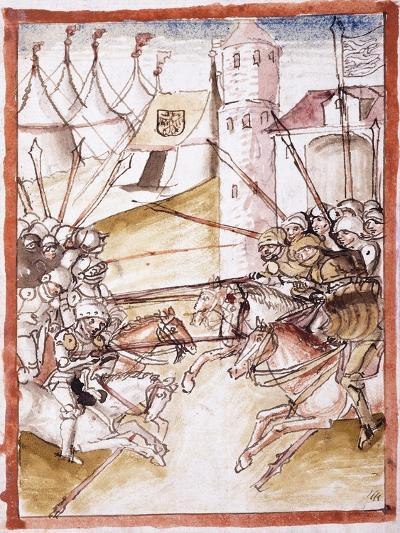 The Romans Attacking Augsburg, C.1490--Giclee Print