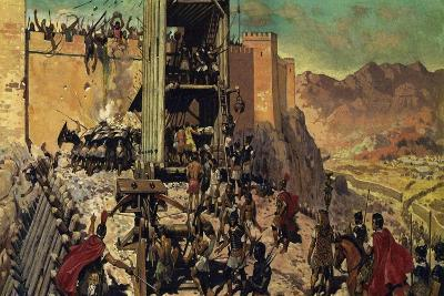 The Romans Spent Months Building a Ramp and a Siege Tower-Alberto Salinas-Giclee Print