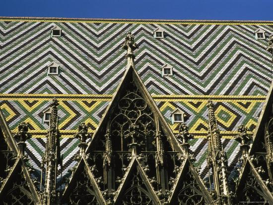 The Roof of St Stephen's Cathedral in Vienna, Austria-Taylor S^ Kennedy-Photographic Print