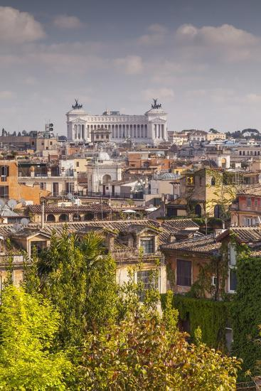 The Rooftops of Rome with Il Vittoriano-Julian Elliott-Photographic Print