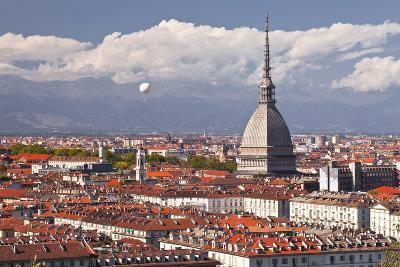 The Rooftops of Turin with the Mole Antonelliana, Turin, Piedmont, Italy, Europe-Julian Elliott-Photographic Print