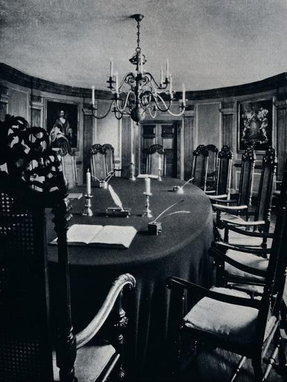'The Room in the Capitol Where The Executive Council Assembled', c1938-Unknown-Photographic Print
