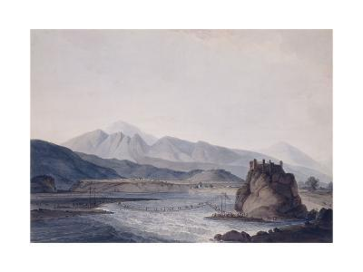 The Rope Bridge, Srinagar, Garhwal, Uttar Pradesh-Thomas & William Daniell-Giclee Print