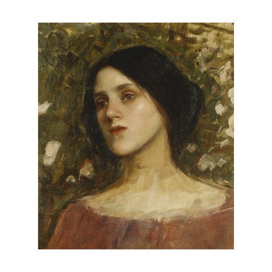 The Rose Bower-John William Waterhouse-Giclee Print
