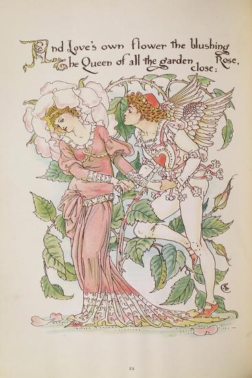 The Rose from 'Flora's Feast'-Walter Crane-Giclee Print