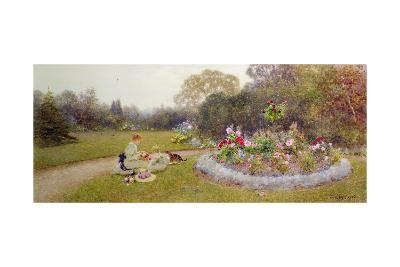 The Rose Garden, 1903-Thomas James Lloyd-Giclee Print