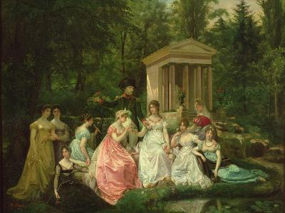 The Rose of Malmaison, circa 1867-Jean Louis Victor Viger du Vigneau-Giclee Print
