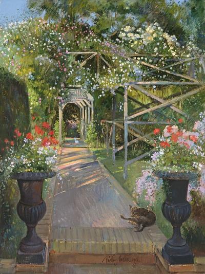 The Rose Trellis, Bedfield, 1996-Timothy Easton-Giclee Print