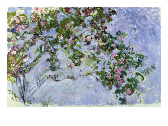 the roses 1925 26 giclee print by claude monet. Black Bedroom Furniture Sets. Home Design Ideas