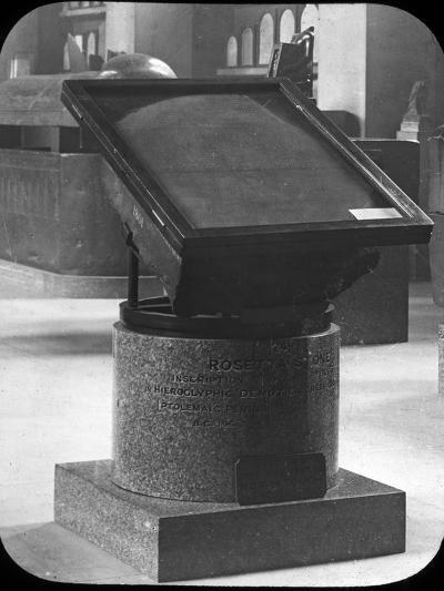 The Rosetta Stone, British Museum, London, C1890-Newton & Co-Photographic Print