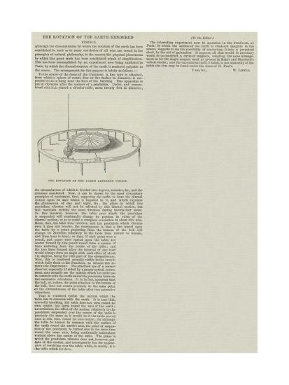 The Rotation of the Earth Rendered Visible--Giclee Print