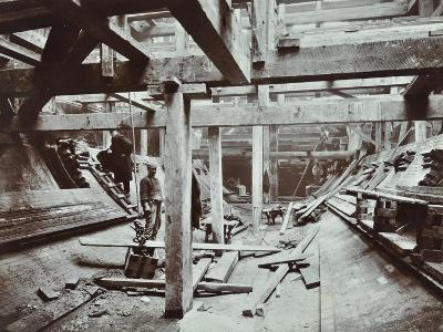 The Rotherhithe Tunnel under Construction, London, March 1905--Photographic Print