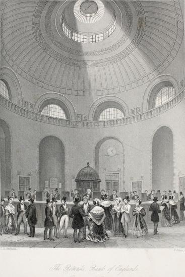 The Rotunda at the Bank of England-Thomas Hosmer Shepherd-Giclee Print
