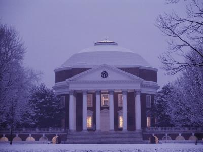 The Rotunda Lightly Covered in Snow--Photographic Print