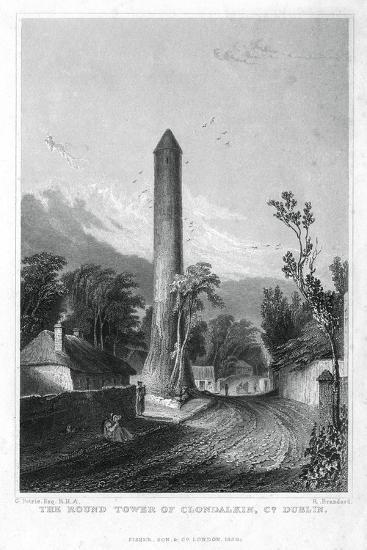 The Round Tower of Clondalkin, County Dublin, Ireland, 1829-R Brandard-Giclee Print