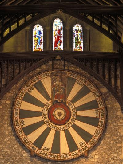 The Roundtable, Built During King Arthur's Reign, Hanging in the Great Hall in Winchester, England-Richard Nowitz-Photographic Print