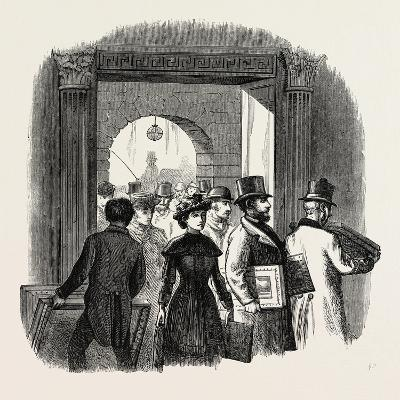 The Royal Academy: the Entrance from the Quadrangle of Burlington House: Taking in In the Hall. Uk--Giclee Print