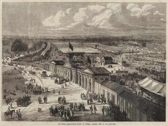 The Royal Agricultural Society at Oxford, General View of the Show-Yard--Giclee Print