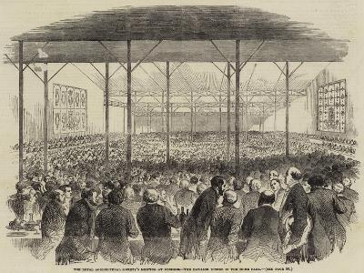 The Royal Agricultural Society's Meeting at Windsor, the Pavilion Dinner in the Home Park--Giclee Print