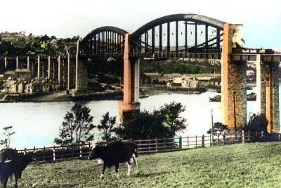 The Royal Albert Bridge, Saltash, Cornwall, 1926--Giclee Print
