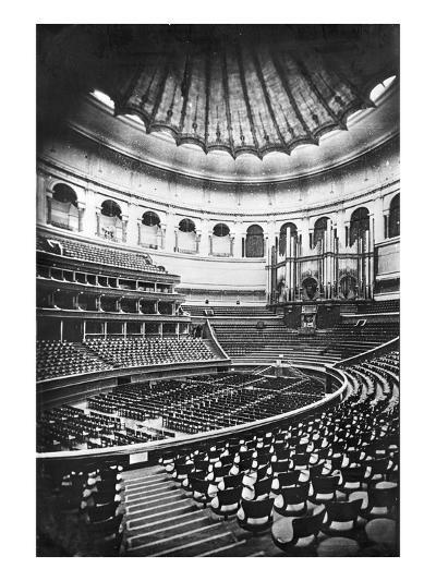 The Royal Albert Hall, London, C.1880's (B/W Photo)-English Photographer-Giclee Print