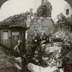 The Royal Army Medical Corps at Monchy Dressing Station, France, World War I, 1914-1918