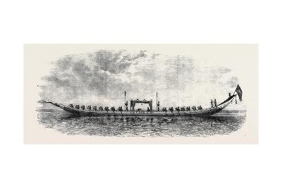 The Royal Barge of the Second King of Siam (Length 87 Feet)--Giclee Print