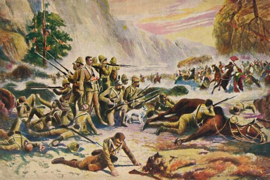 'The Royal Berkshire Regiment. The Heroic Stand at Maiwand', 1880, (1939)-Unknown-Giclee Print