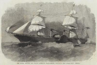 The Royal British and North American Mail-Packet Company's New Steam-Ship Persia-Edwin Weedon-Giclee Print