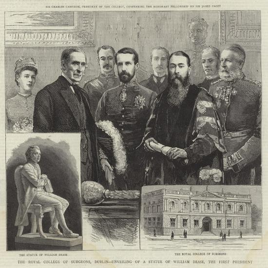The Royal College of Surgeons, Dublin, Unveiling of a Statue of William Dease, the First President--Giclee Print