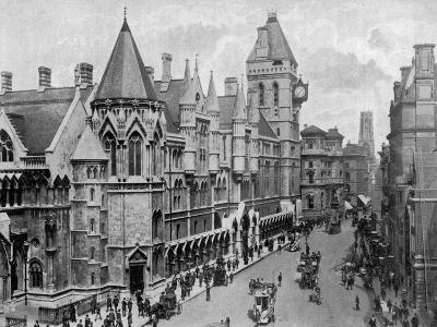 The Royal Courts of Justice, Strand, Westminster, London, 1904--Giclee Print