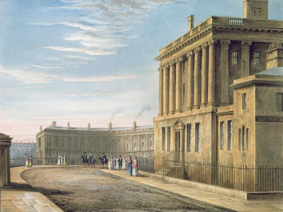The Royal Crescent, Bath 1820-David Cox-Giclee Print