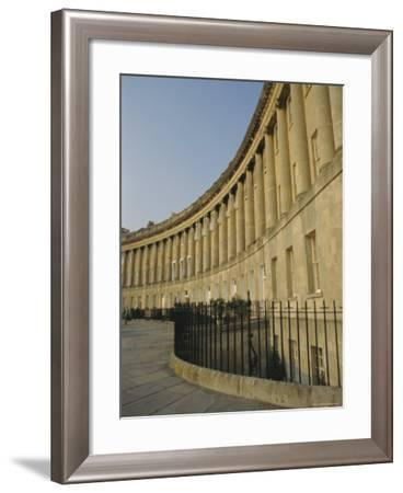The Royal Crescent, Bath, Avon, England, UK-Fraser Hall-Framed Photographic Print