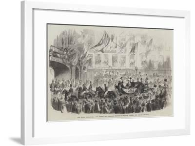 The Royal Departure, the Prince and Princess Frederick William Passing the Strand--Framed Giclee Print
