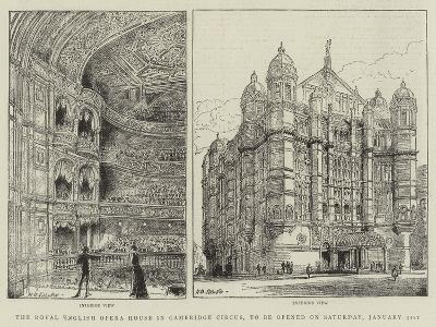 The Royal English Opera House in Cambridge Circus, to Be Opened on Saturday, 31 January-Henry William Brewer-Giclee Print
