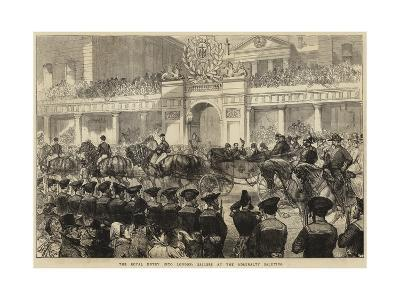 The Royal Entry into London, Sailors at the Admiralty Saluting--Giclee Print