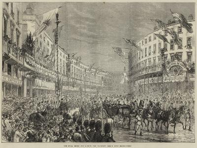 The Royal Entry into London, the Procession Passing Down Regent-Street--Giclee Print