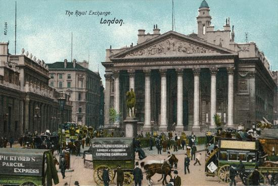 'The Royal Exchange, London', c1910-Unknown-Giclee Print